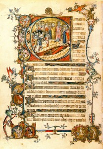 Folio 85v of the Vienna Bohun Psalter