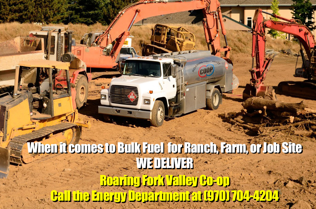 When it comes to Bulk Fuel for Ranch, Farm, or Job Site - We Deliver! Call the Energy Department at (970) 704-4202