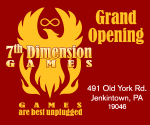 7th Dimension Games - Grand Opening small web ad