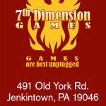 7th Dimension Games - business card