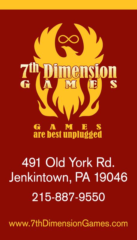 7th Dimension Games - business card